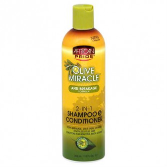 African Pride - Olive Miracle Anti-Breakage 2-in-1 Shampoo & Conditioner (12oz)