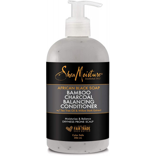 Shea Moisture - African Black Soap Bamboo Charcoal Balancing Conditioner (13oz)