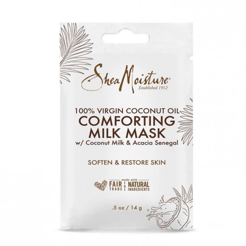 Shea Moisture - (SACHET) 100% Virgin Coconut Oil Comforting Milk Mask 0.5oz
