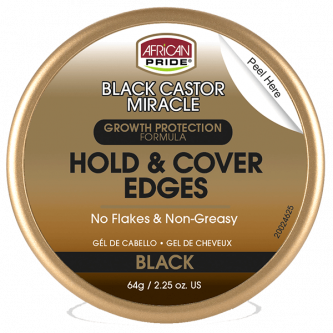 African Pride - Black Castor Miracle Hold & Cover Edges 64 gr