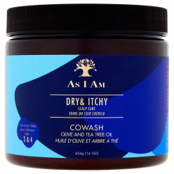 As I Am - Dry & Itchy Scalp Care Olive and Tea Tree Oil Co-Wash (16oz)