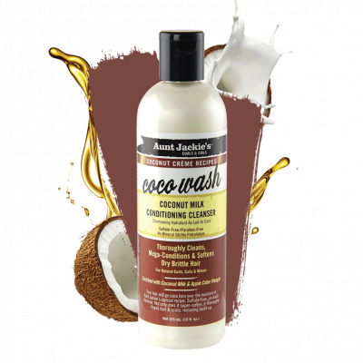 Aunt Jackie's - Coco Wash Coconut Milk Conditioning Cleanser (12oz)