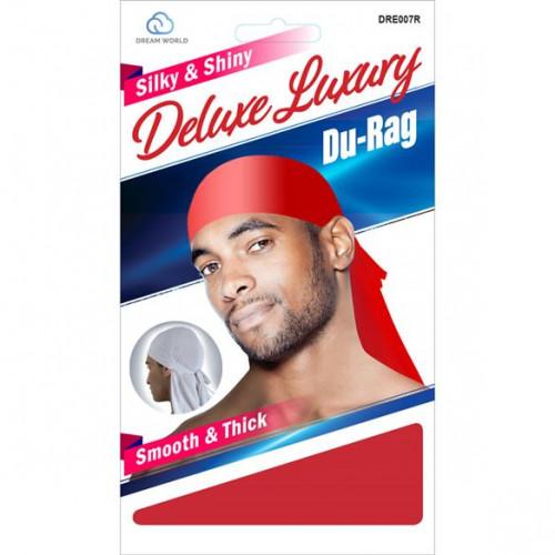 Dream World - Silky & Shiny Deluxe Luxury Du-Rag Red DRE007R