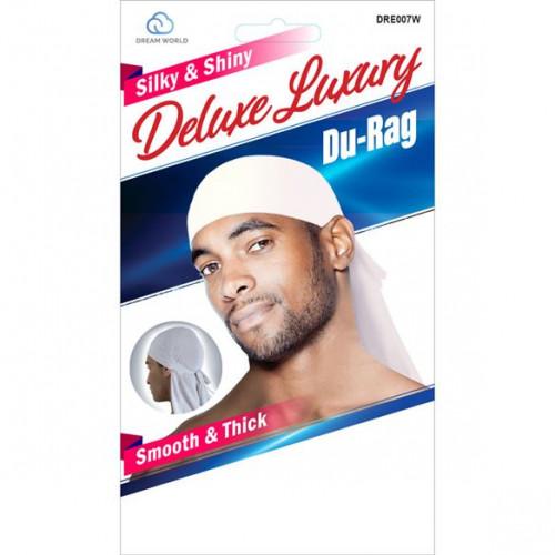 Dream World - Silky & Shiny Deluxe Luxury Du-Rag White DRE007W