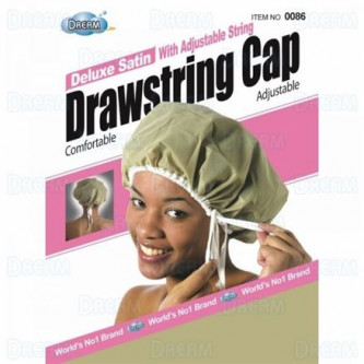 Dream - Deluxe Satin With Adjustable String Drawstring Cap DRE086