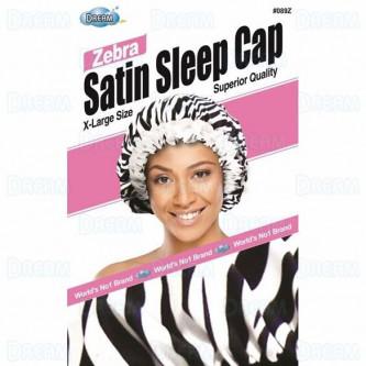 Dream WOMENS SATIN SLEEP CAP FLORAL ZEBRA