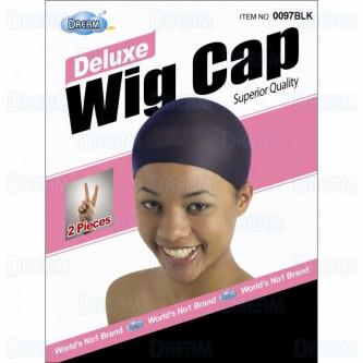 Dream Deluxe Wig Cap Black (2Pcs)