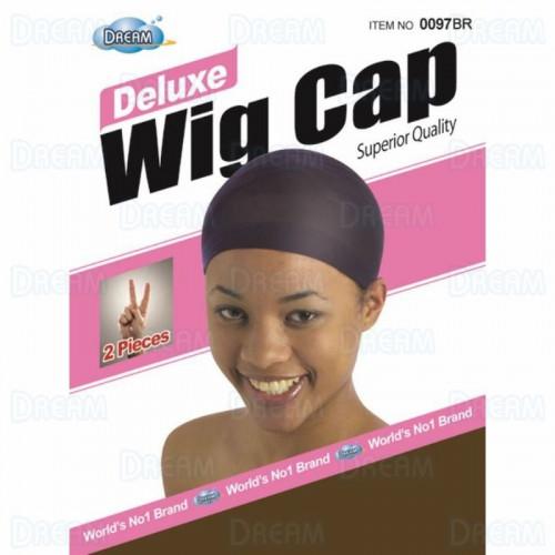 Dream Deluxe Wig Cap 2 pcs Light Brown