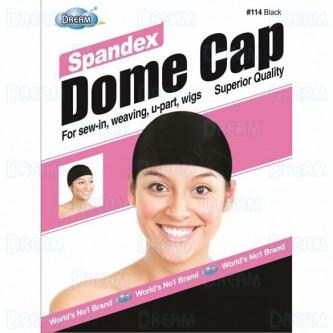 Dream Women Spandex Dome Cap Black