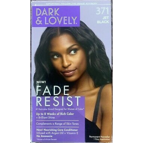 Dark and Lovely - Permanent Hair Color Jet Black 371