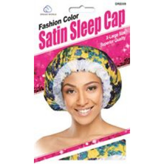 Dream Fashion Color Satin Sleep Cap