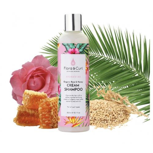 Flora & Curl - Organic Rose & Honey Cream Shampoo (10.1oz)