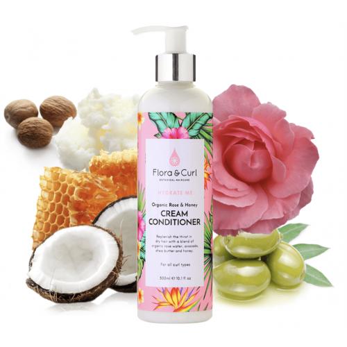 Flora & Curl - Organic Rose & Honey Cream Conditioner (10.1oz)