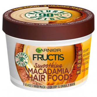 Garnier - Fructis Smoothing Macadamia Hair Food Mask For Dry & Unruly Hair (13oz)