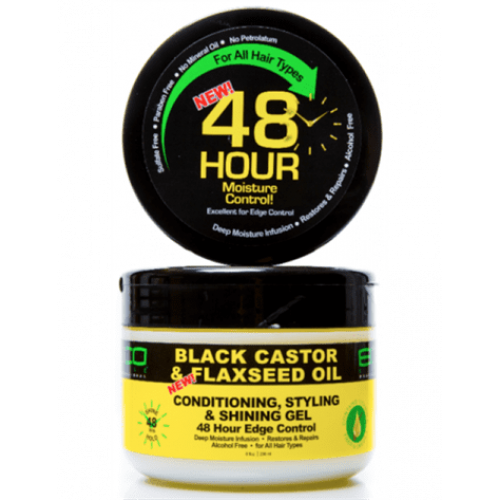 Eco Style - Black Castor & Flaxseed Oil Conditioning, Styling & Shining Gel (11oz)