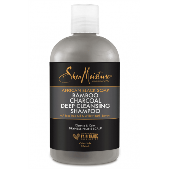 Shea Moisture - African Black Soap Bamboo Charcoal Deep Cleansing Shampoo (13oz)