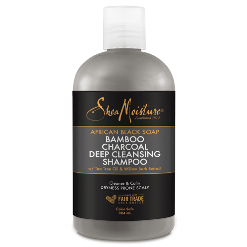 Shea Moisture - African Black Soap Bamboo Charcoal Deep Cleansing Shampoo (13oz)