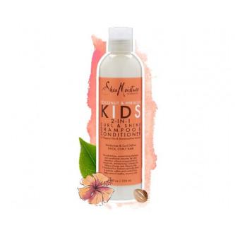 Shea Moisture - Coconut & Hibiscus Kids 2-in-1 Curl & Shine Shampoo & Conditioner (8oz)