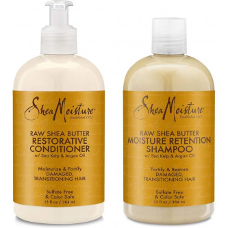 Shea Moisture - Raw Shea Butter Restorative Shampoo & Conditioner Set