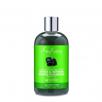 Shea Moisture - Activated Charcoal  & Mint Detox & Refresh Hair & Scalp Gentle Shampoo (13oz)