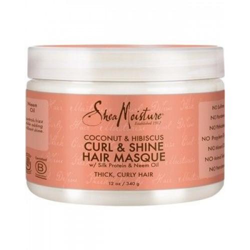 Shea Moisture - Coconut & Hibiscus Curl & Shine Hair Masque (12oz)