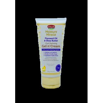 African Pride - Moisture Mircale Flaxseed Oil & Shea Butter Curl Defining Gel 'N Cream (6oz)