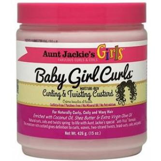 Aunt Jackie's - Girls Baby Girl Curls, Curling & Twisting Custard (15oz)