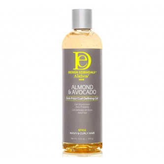 Design Essentials Natural Almond & Avocado Anti Frizz Curl Defining Gel 12oz