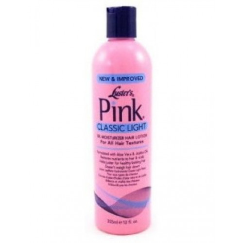 Pink - Classic Light Oil Moisturizer Hari Lotion (12oz)
