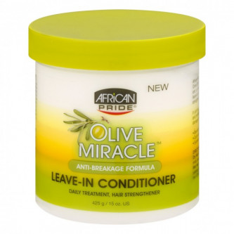 African Pride - Olive Miracle Anti-Breakage Leave-In Conditioner (15oz)
