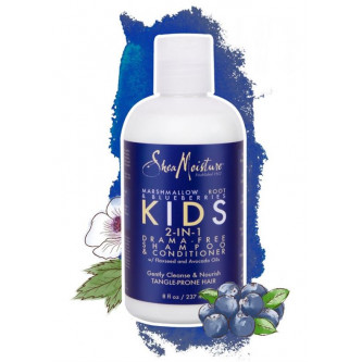Shea Moisture - Marshmallow Root & Blueberries Kids 2-In-1 Drama-Free Shampoo & Conditioner (8oz)