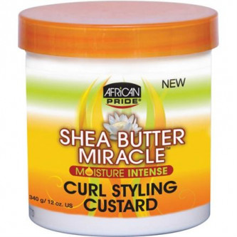 African Pride - Shea Butter Miracle - Curl Styling Custard (12oz)