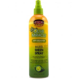 African Pride - Olive Miracle Anti-Breakage Braid Sheen Spray (12oz)