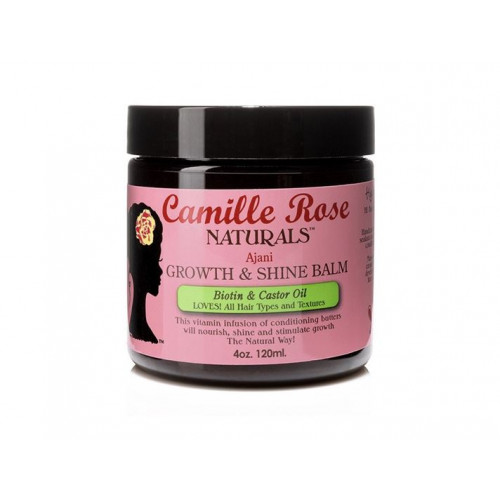 Camille Rose - Growth & Shine Balm with Biotin & Castor Oil (4oz)