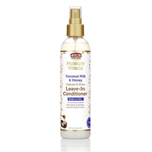 African Pride - Moisture Miracle Coconut Milk & Honey Leave-In Conditioner (8oz)