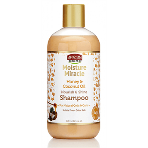 African Pride - Moisture Miracle Honey & Coconut Oil Shampoo (12oz)