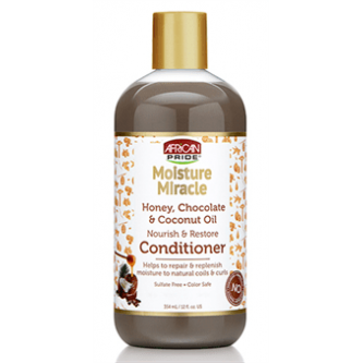 African Pride - Moisture Miracle Honey, Chocolate & Coconut Oil Conditioner (12oz)