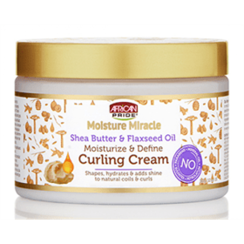 African Pride - Moisture Miracle Shea Butter & Flaxseed Oil Curling Cream (12oz)
