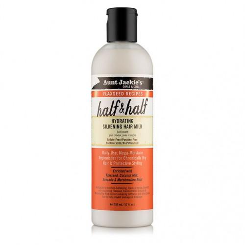 Aunt Jackie's - Curls & Coils Flaxseed Recipes Half & Half Hydrating Silkening Hair Milk (12oz)
