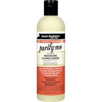 Aunt Jackie's - Curls & Coils Flaxseed Recipes Purify Me Moisturizing Co-Wash Cleanser (12oz)