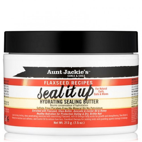 Aunt Jackie's - Curls & Coils Flaxseed Recipes Seal It Up Hydrating Sealing Butter (7.5oz)
