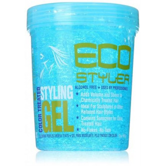 Eco Styler - Aqua Blue Styling Gel For Color Treated Hair (32oz)